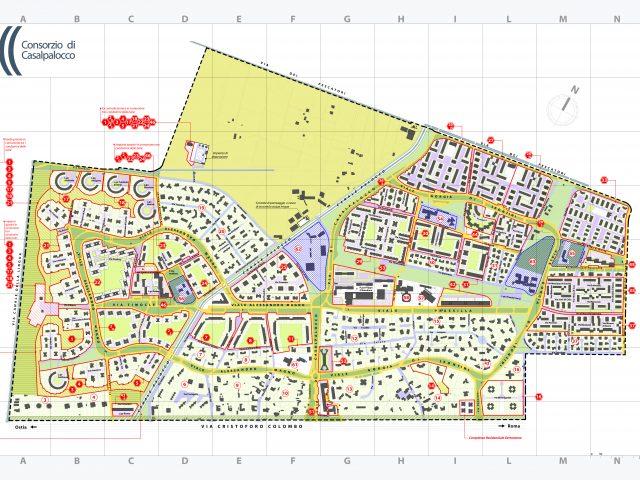 Mappa di Casal Palocco